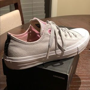 Converse Light Gray Baby Pink Women's Sneakers 7